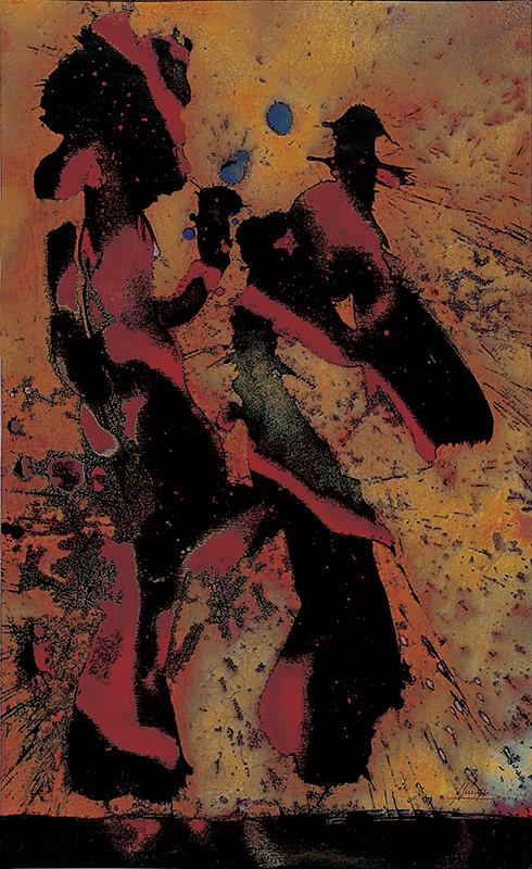 CAVALIER DU SOLEIL, 1999, 77,5 X 47,5 CM