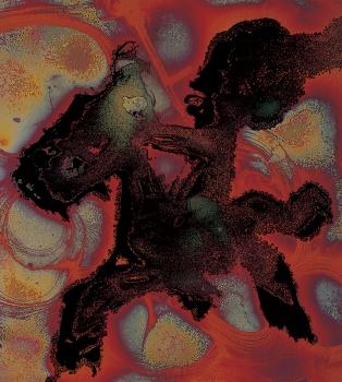 CAVALIER DOGON, 1988, 55 X 50 CM