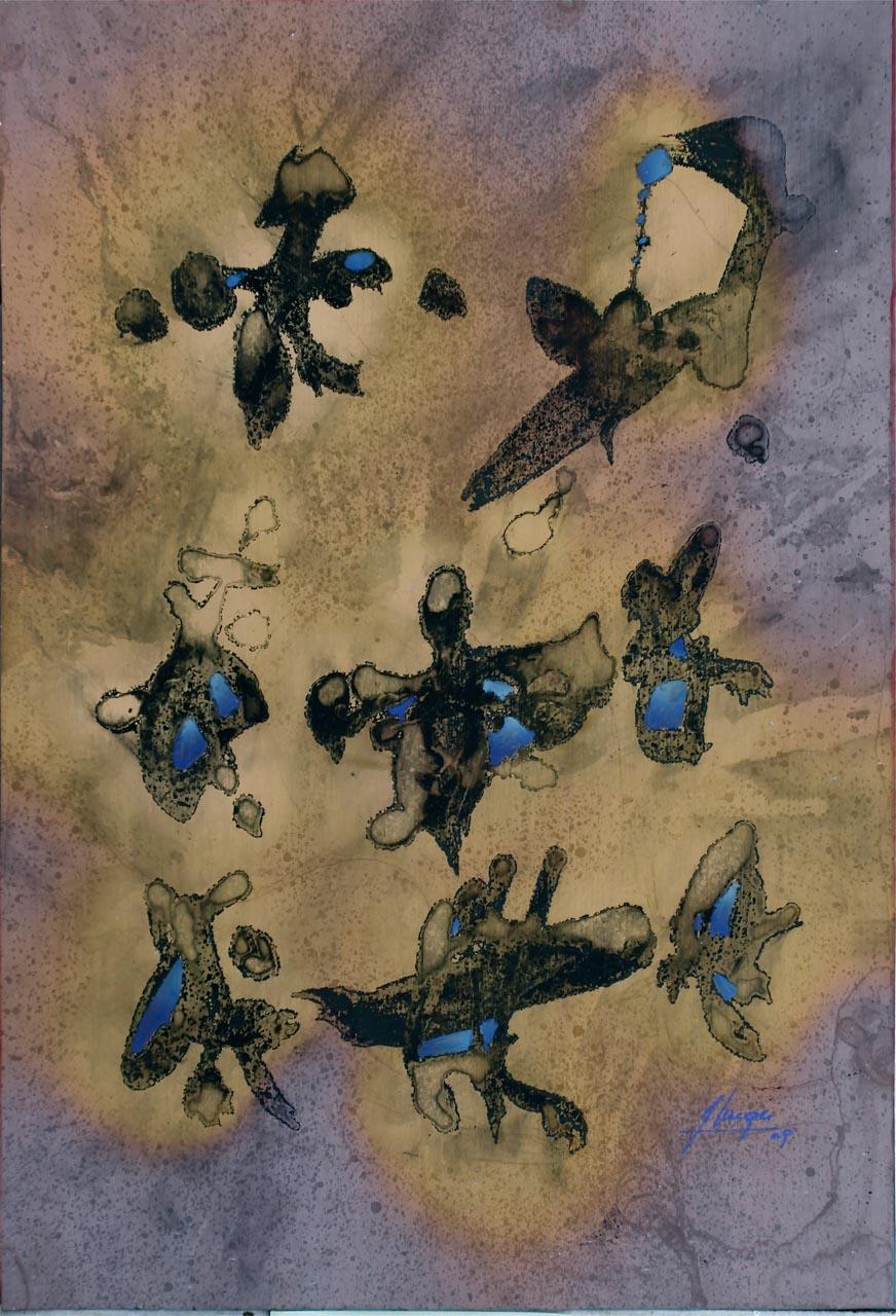 OISEAUX DU DESERT, 2009, 31,8 X 21,8 CM